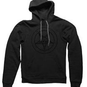 Pentagram Baphomet- logo pullover sweatshirt (front print only)
