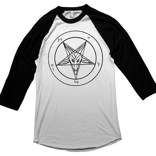 Pentagram / Baphomet Baseball Shirt