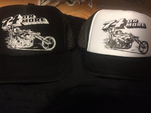 74 or More -  trucker CAP