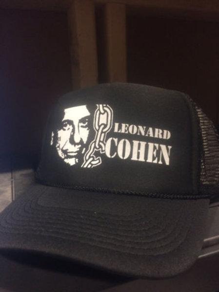 Leonard Cohen  -  trucker CAP