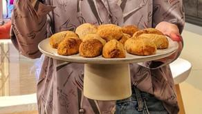 Broas de batata-doce e coco (Vegetariano)