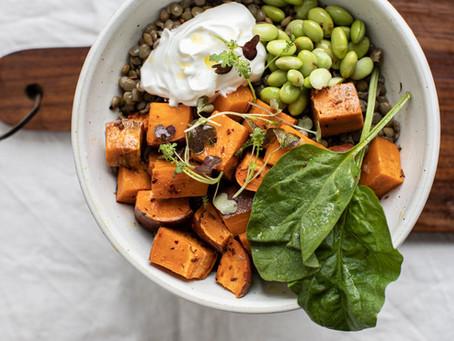 Salada de lentilhas doces
