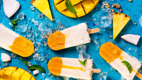 Gelado express de ananás & côco