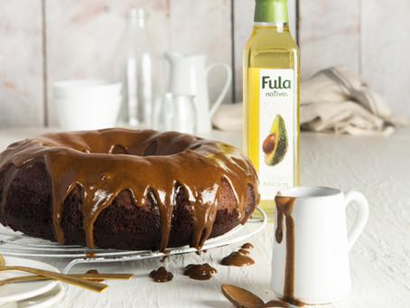 Bolo de chocolate saudável com óleo de abacate