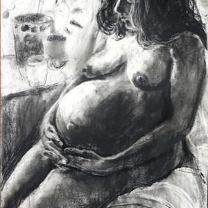 Seated Pregnant Nude