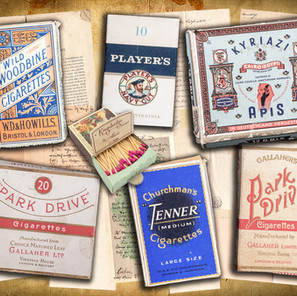 Six Cigarette Boxes
