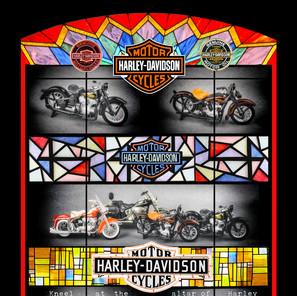 Four Harley Davidson Motor Cycles