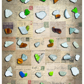 Fifty-Six Fragments of Coloured Glass