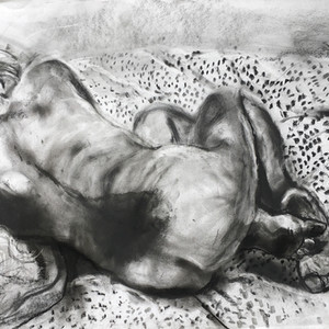Curled up Nude
