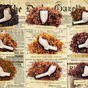 Nine Clay-Pipes and Loose Tobacco Types