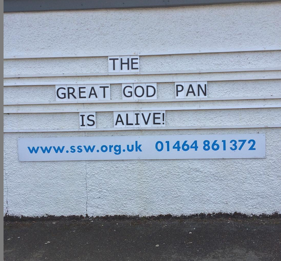 THE GREAT GOD PAN IS ALIVE