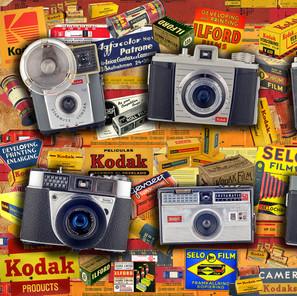 Six Vintage Kodak Cameras