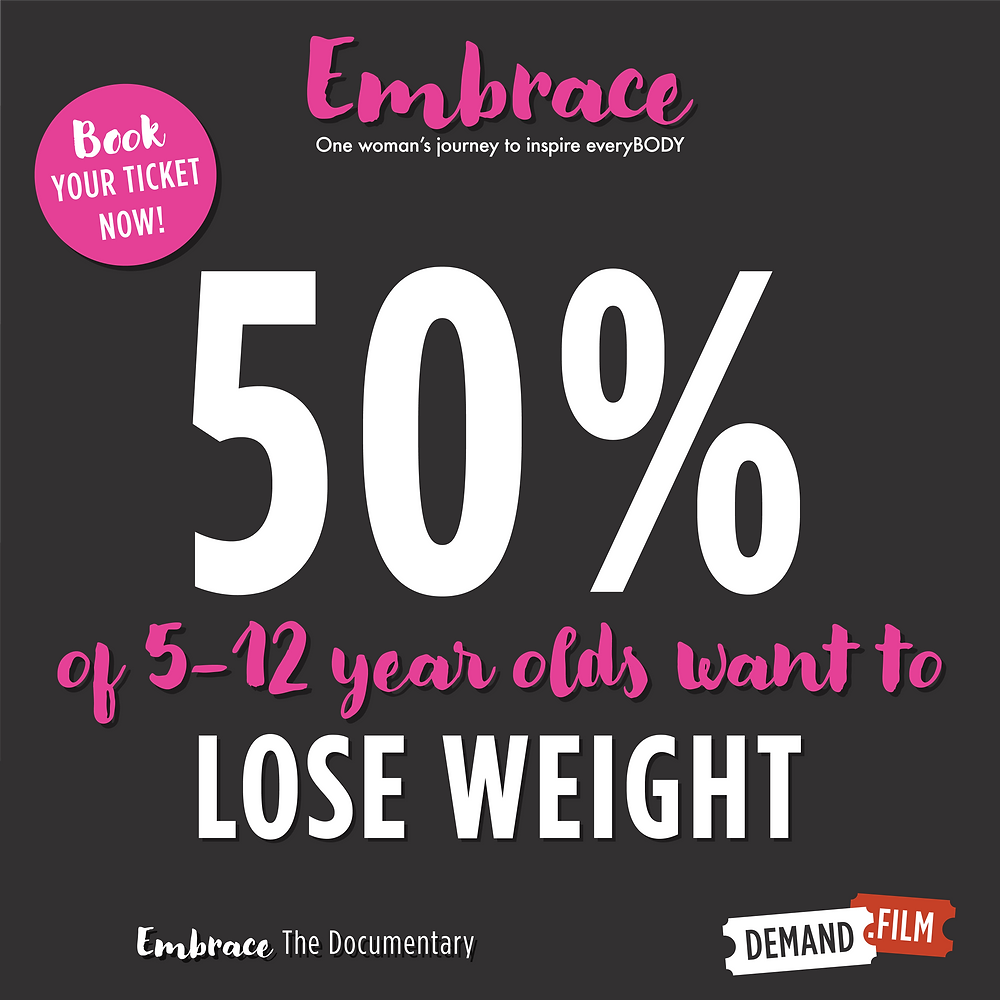 50% of 3 to 12 year olds want to lose weight