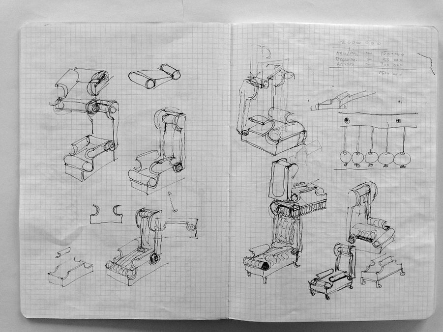 sketch _h.c.andersen stol_