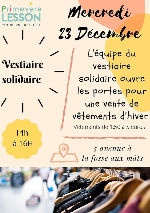 affiche vestiare solidaire Marcredi 23 D