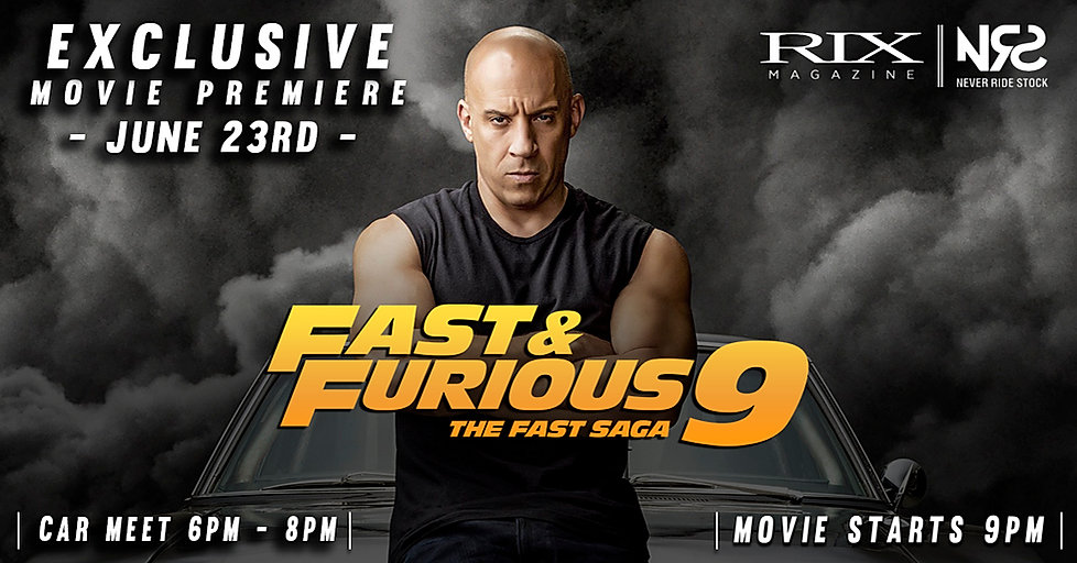 F&F9 Movie Release 1160 by 607 banner RI