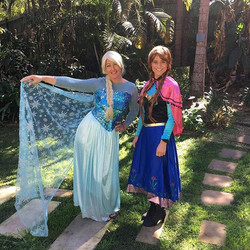 Anna and Elsa had a great time today at