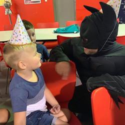 Serious chats #Batman #boysparty #kidspa