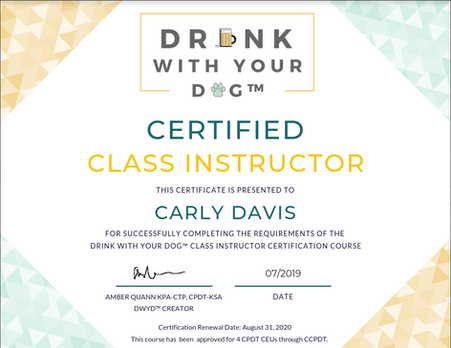 Drink With Your Dog Certified Class Instructor
