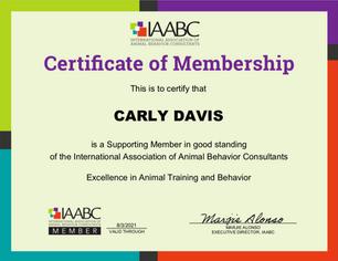 IAABC Carly Davis Membership
