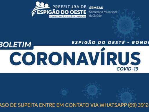 BOLETIM DIÁRIO COVID-19 02/01/2019 EM ESPIGÃO DO OESTE