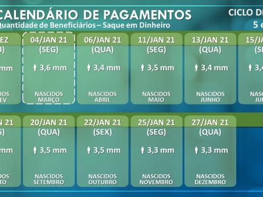 Confira o calendário para o saque dos Ciclos 5 e 6 do Auxílio Emergencial