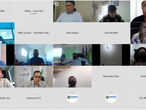 Prefeito Wéliton participa de Reunião do Governo do Estado para definir ações de combate a COVID-19