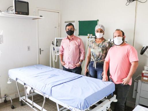 Sala de tratamento intensivo é montada na Sentinela para pacientes que precisem aguardar vaga de UTI