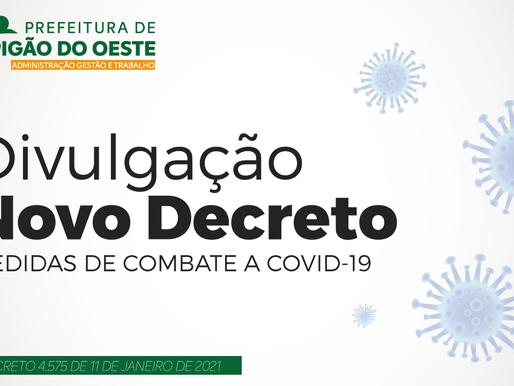 Novo Decreto Municipal traz alterações nas medidas de enfrentamento a COVID-19