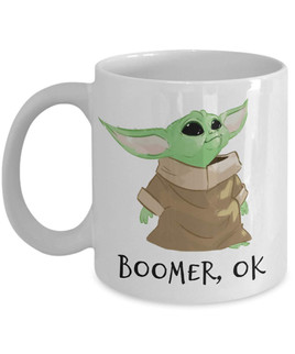 BBoomer, Ok Coffee Mug Baby Yoda