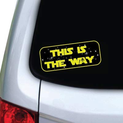 This is the way Car decal