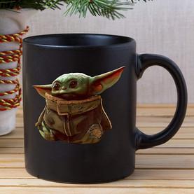 Baby Yoda Coffee Mug Black