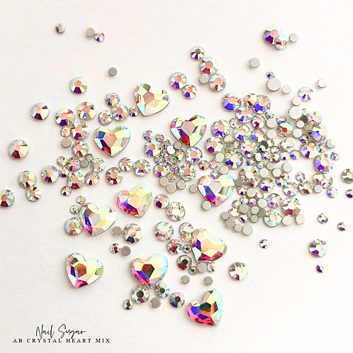 Heart Shape AB Crystal Mix