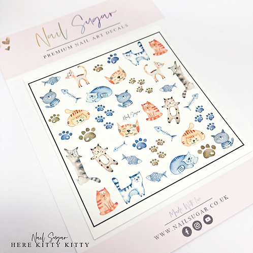 Here Kitty Kitty - Water Decals