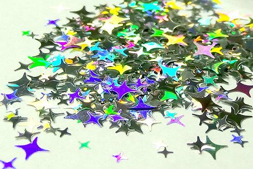 Cosmic Holo Silver Stars - Small Pot