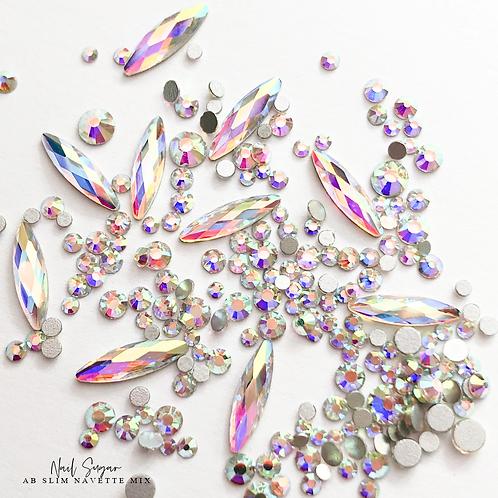 Slim Navette AB Crystal Mix