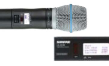 SET: Handsender UHF (ULX-D) mit Diversity-Empfänger