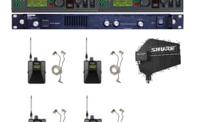 "4er Set InEar-Monitorsystem UHF ""SHURE PSM-900"""