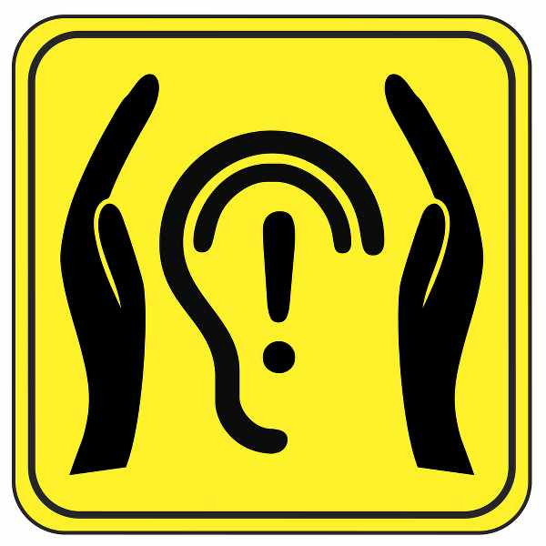 hands protecting the ears