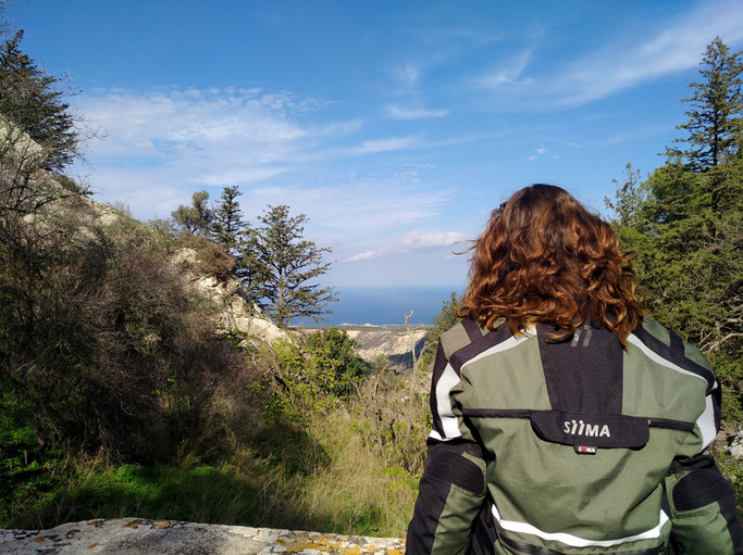 admiring the mountain and sea view with siima sibirsky