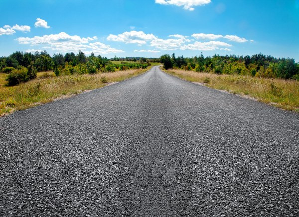 gravel road in the middle of nowhere