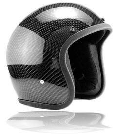 half face carbon fiber motorbike helmet