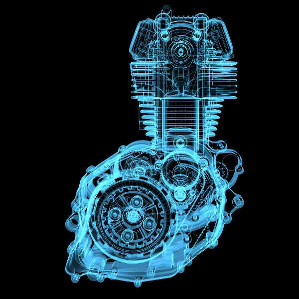 advence motorcycle engine in blueprint