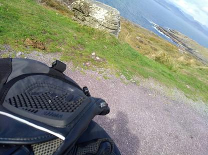 siima sibirsky gloves on motorcycle in ireland