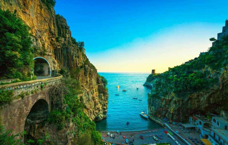 The Amalfi Coast Road - Naples to Salerno, Italy