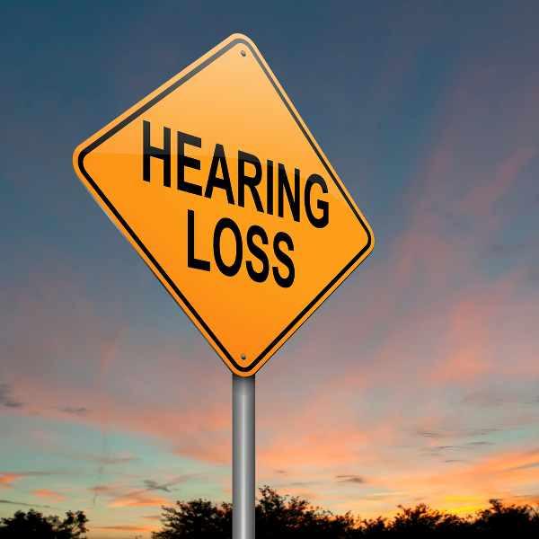 a street sign saying hearing loss