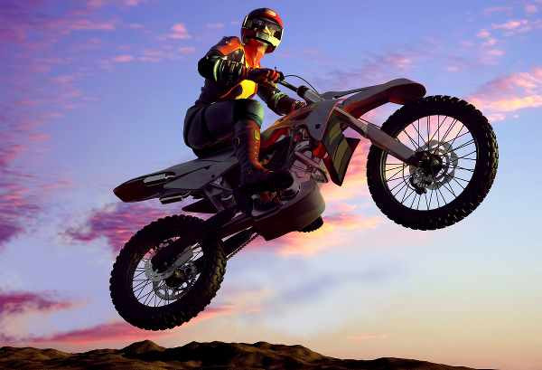 motocross bike doing motorcycle jump