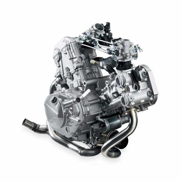 motorcycle engine with fuel injection system