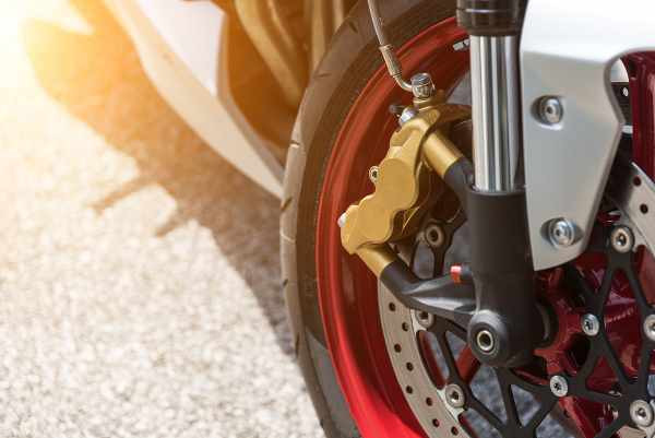 motorbike red rim with abs brakes
