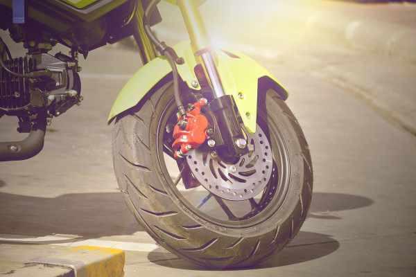 red motorbike abs brakes